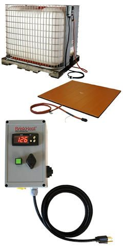 BriskHeat* TTH Caged Tote Tank/IBC Silicone Rubber Heaters & Control from BriskHeat Corp.