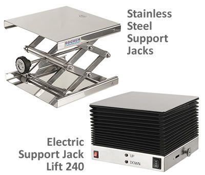 BOCHEM* Stainless Steel Support Jacks from BrandTech Scientific, Inc.