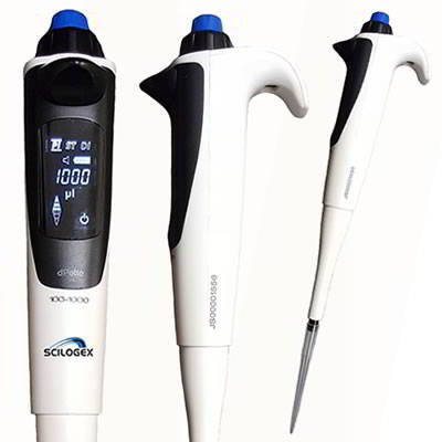 SCILOGEX* iPette Electronic LED Digital Single Channel Pipettors from Scilogex, LLC.